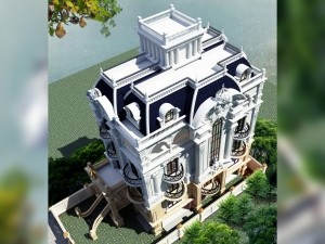 Hồ sơ xây dựng và bản vẽ kiến trúc biệt thự 6 tầng tân cổ điển 180m2