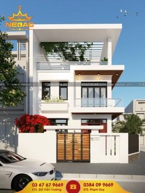 Dự án thiết kế nhà phố 2 tầng hiện đại 114m2