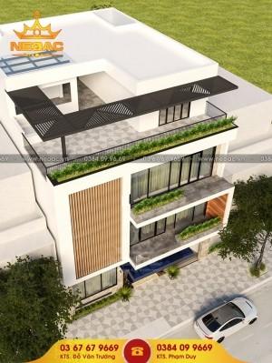 Hồ sơ thiết kế nhà phố 3 tầng hiện đại 180m2
