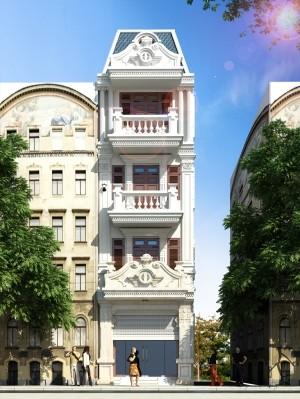 Hồ sơ xây dựng mẫu nhà phố 5 tầng tân cổ điển 68m2