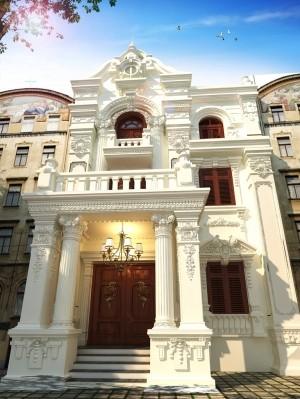 Hồ sơ thiết kế kiến trúc nhà phố 3 tầng tân cổ điển 200m2