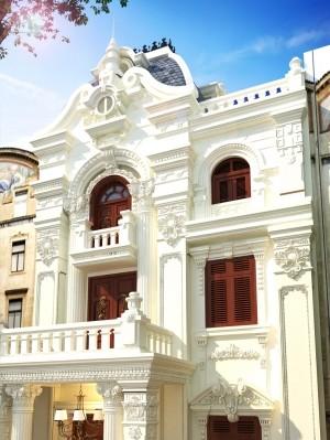 Dự án thiết kế nhà phố 3 tầng tân cổ điển tại Phú Thọ