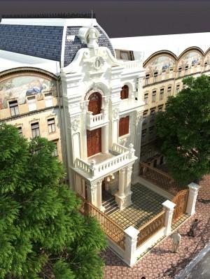 Hồ sơ mẫu thiết kế nhà phố 3 tầng tân cổ điển 3.1 tỷ
