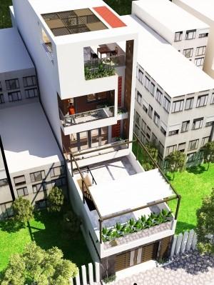 Dự án thiết kế nhà phố 4 tầng hiện đại tại Hải Dương