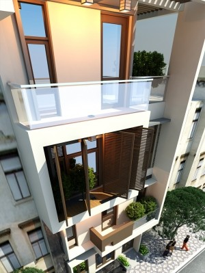 Dự án thiết kế nhà phố 4 tầng hiện đại tại Phú Thọ