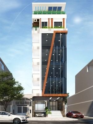 Hồ sơ thiết kế mẫu nhà phố 7 tầng hiện đại 130m2