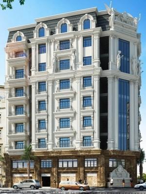 Hồ sơ mẫu thiết kế khách sạn 9 tầng tân cổ điển 281m2