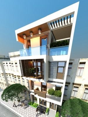 Hồ sơ thiết kế nhà phố 4 tầng hiện đại 1.5 tỷ