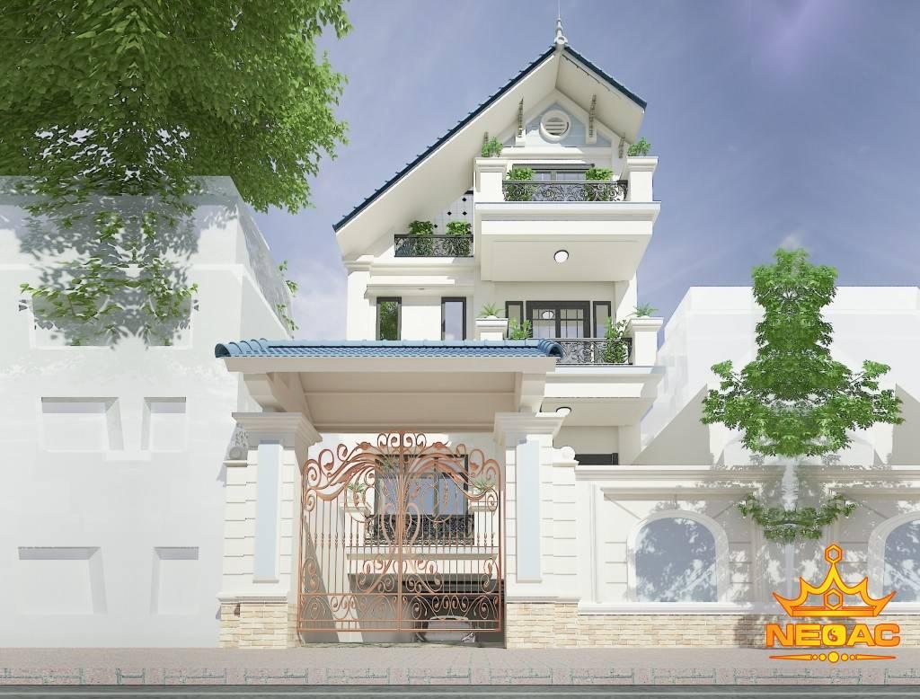 Bàn giao dự án biệt thự 4 tầng tân cổ điển tại Gia Lâm