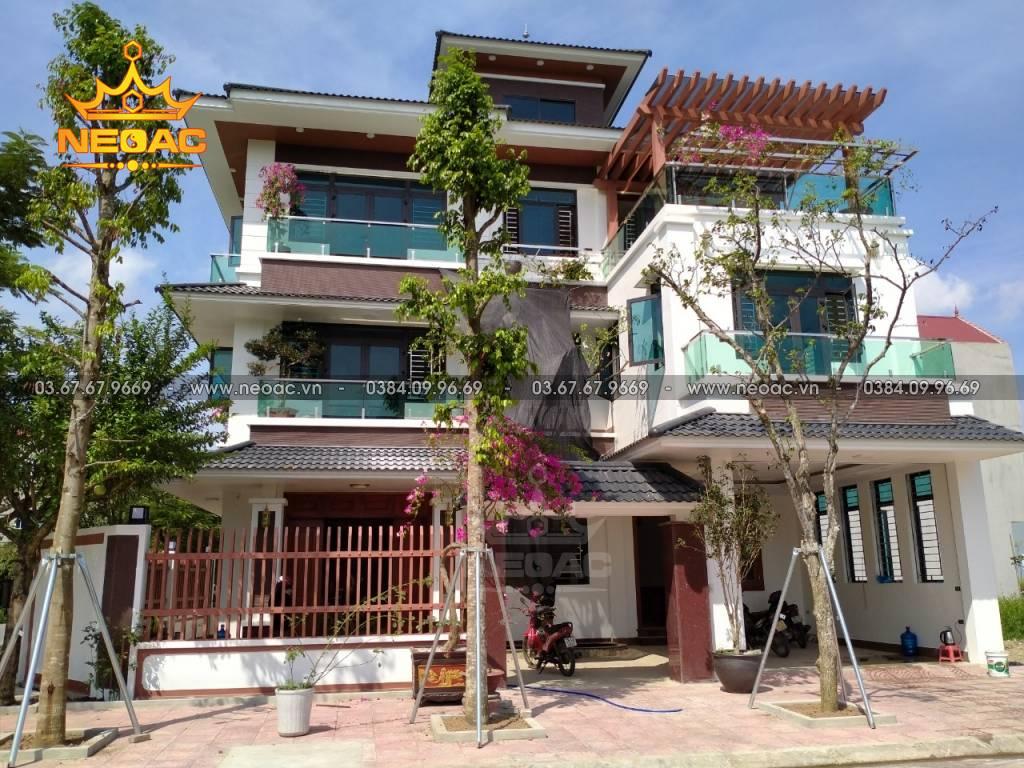 Quá trình thi công và hoàn thiện biệt thự 3 tầng tại Bắc Ninh