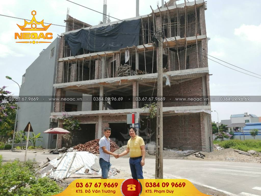 Cập nhật tiến độ thi công nhà phố 5 tầng hiện đại tại Bắc Ninh