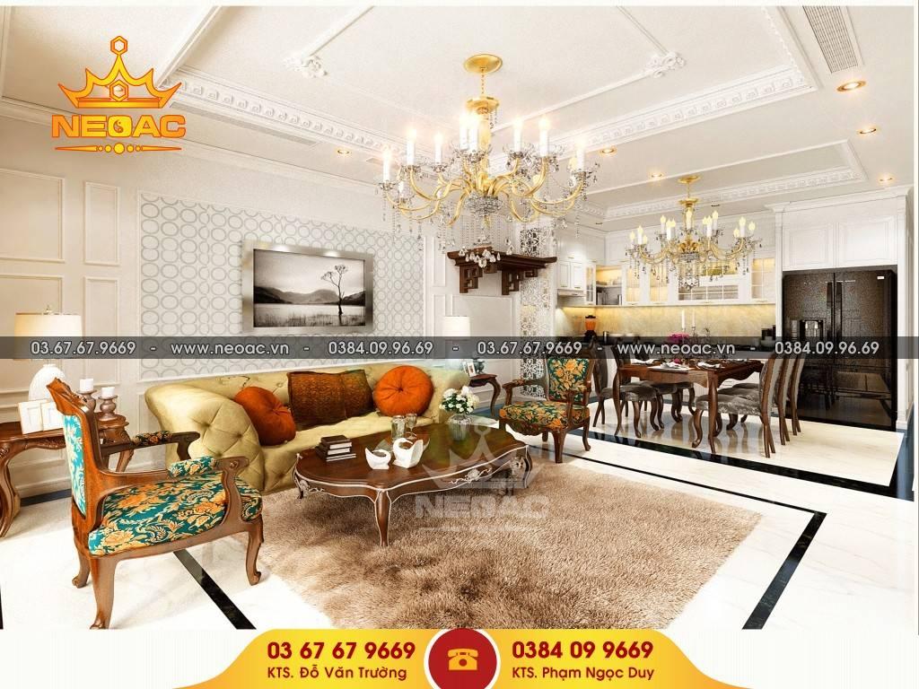 Xu hướng nội thất tân cổ điển cho căn hộ chung cư cao cấp