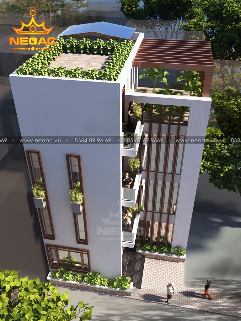 Xây dựng nhà phố 4 tầng hiện đại 55m2