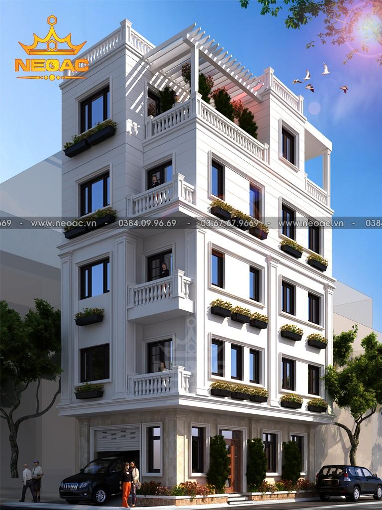 Mẫu nhà phố 4 tầng hiện đại 67m2