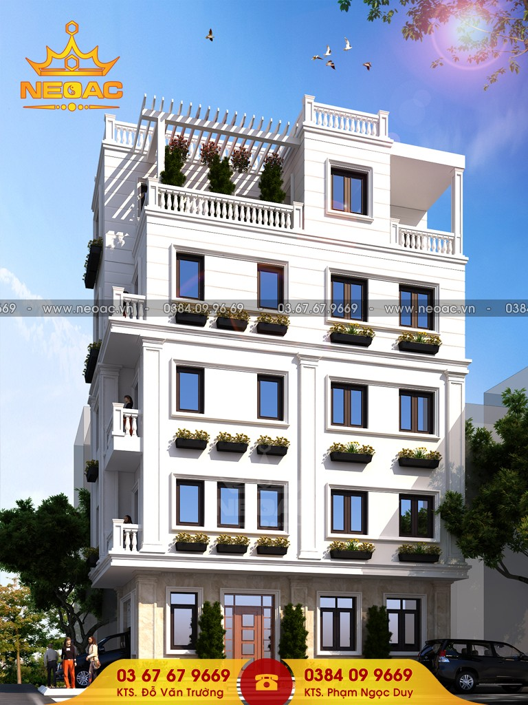 Thiết kế nhà phố 4 tầng hiện đại 67m2