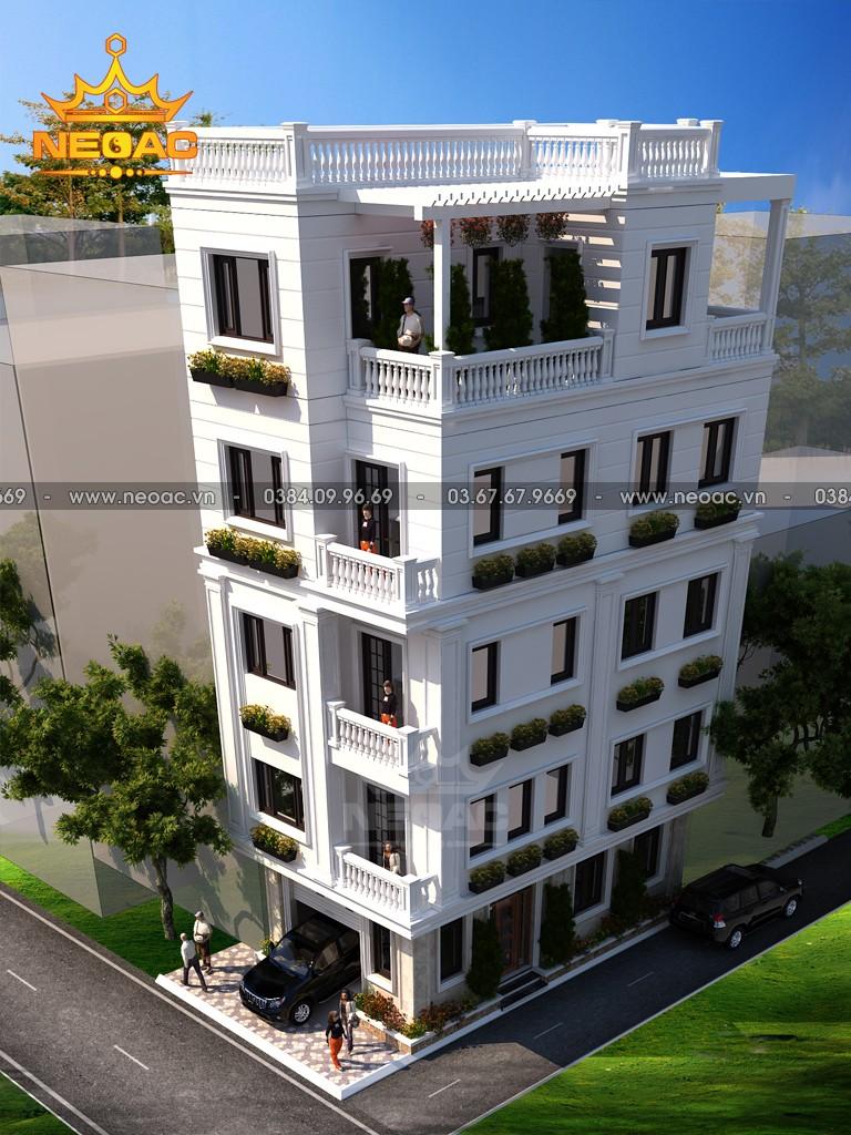 Xây dựng nhà phố 4 tầng hiện đại 67m2