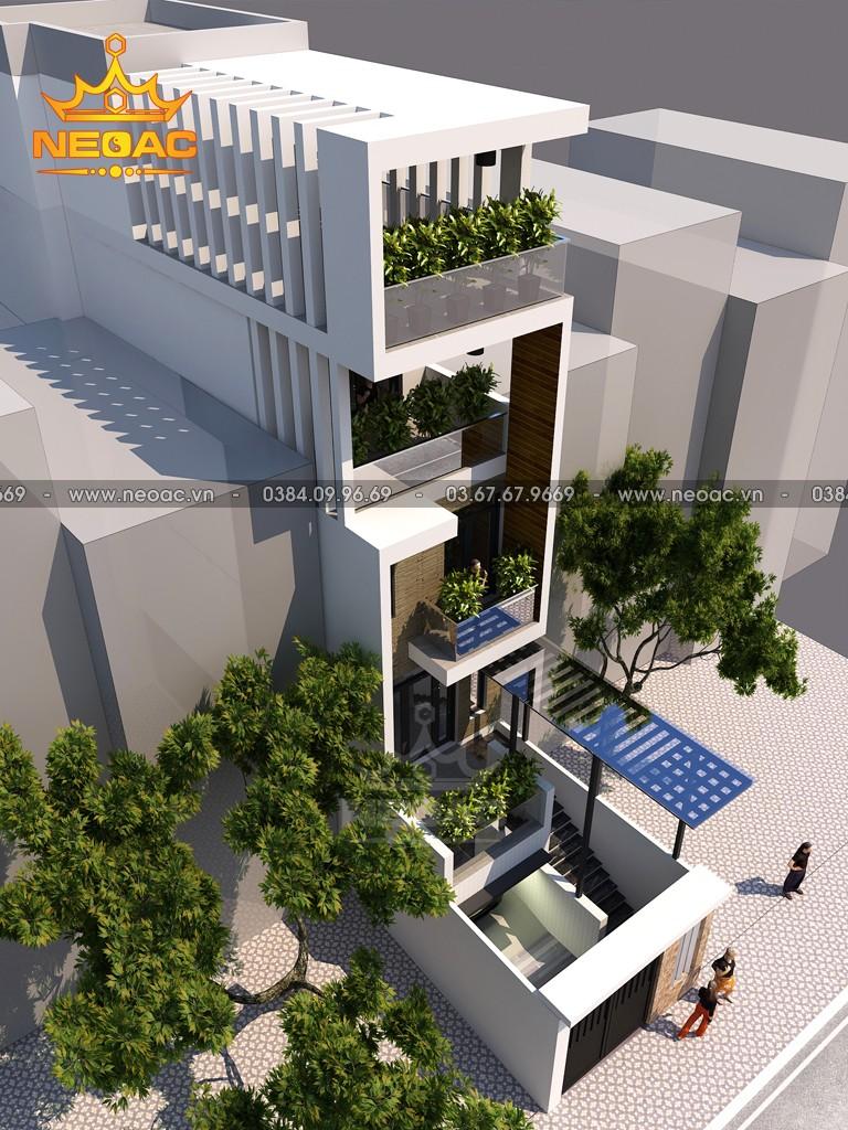 Thiết kế nhà phố 4 tầng hiện đại 95m2