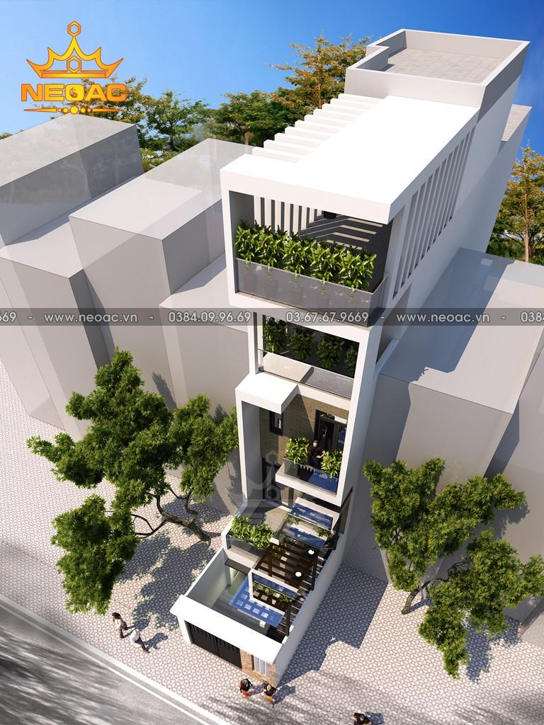 Xây dựng nhà phố 4 tầng hiện đại 95m2