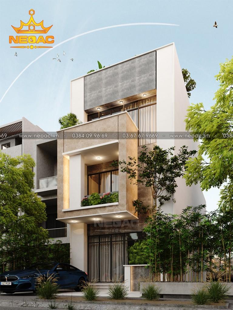 Bản vẽ nhà phố 3 tầng hiện đại 100m2