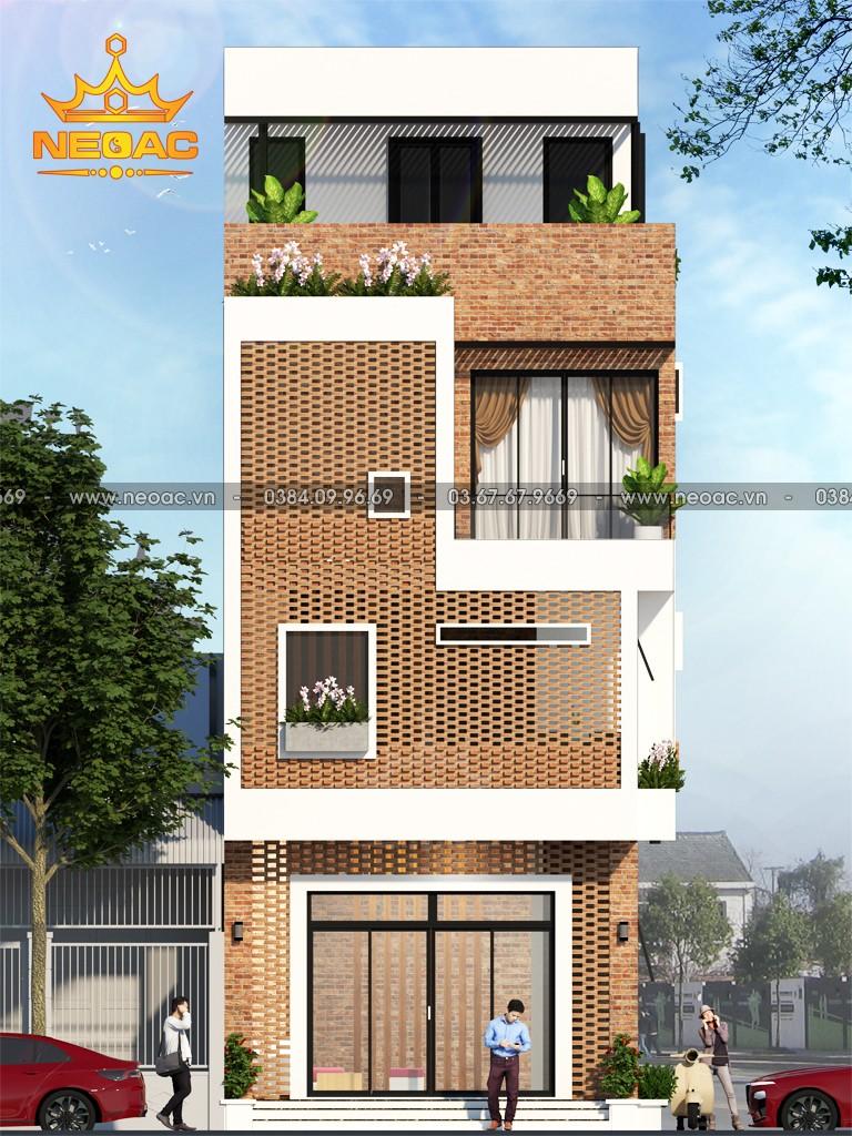 Mẫu thiết kế nhà phố lệch tầng 5x16m