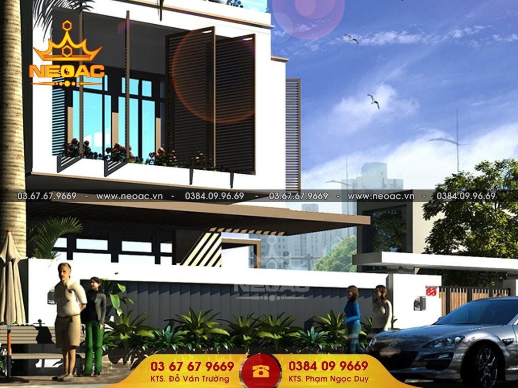 Dự án thiết kế biệt thự 2 tầng hiện đại tại Sóc Sơn