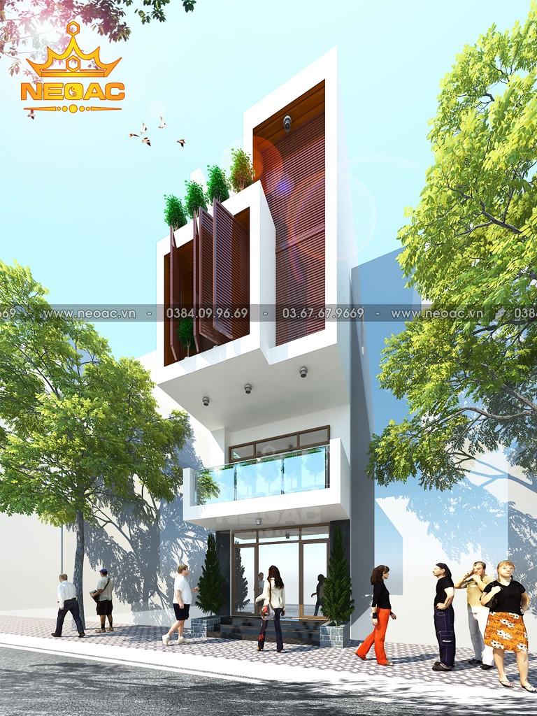 Mẫu nhà phố 3 tầng hiện đại 94m2