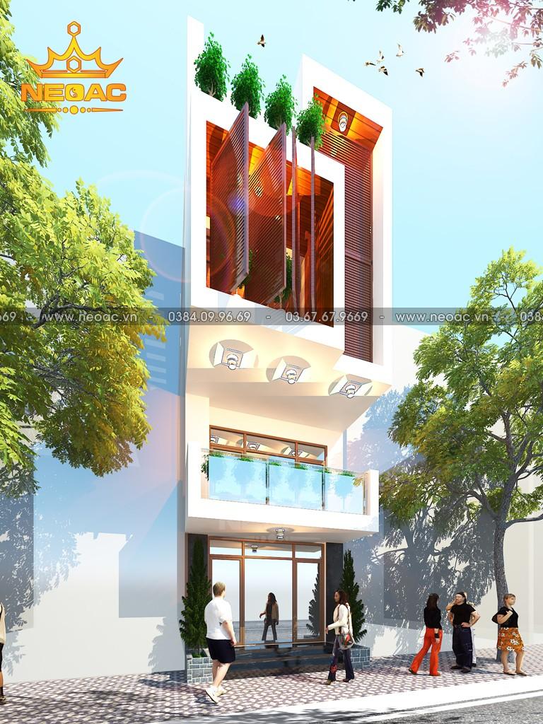 Bản vẽ nhà phố 3 tầng hiện đại 94m2