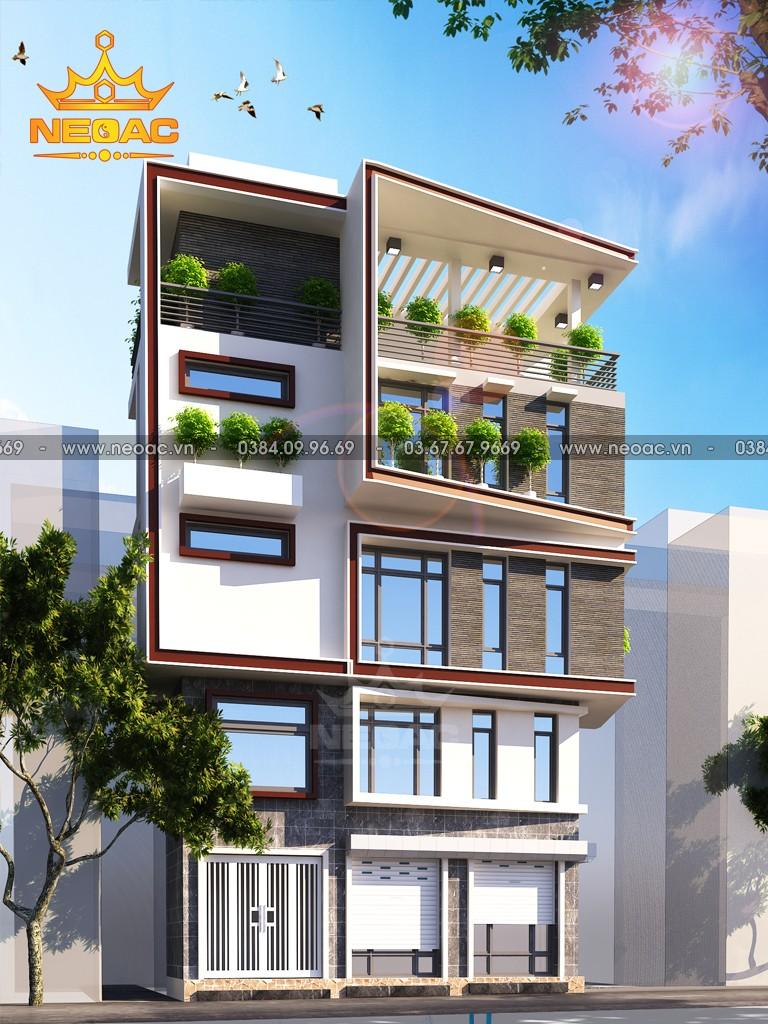 Mẫu nhà phố 5 tầng hiện đại 30m2