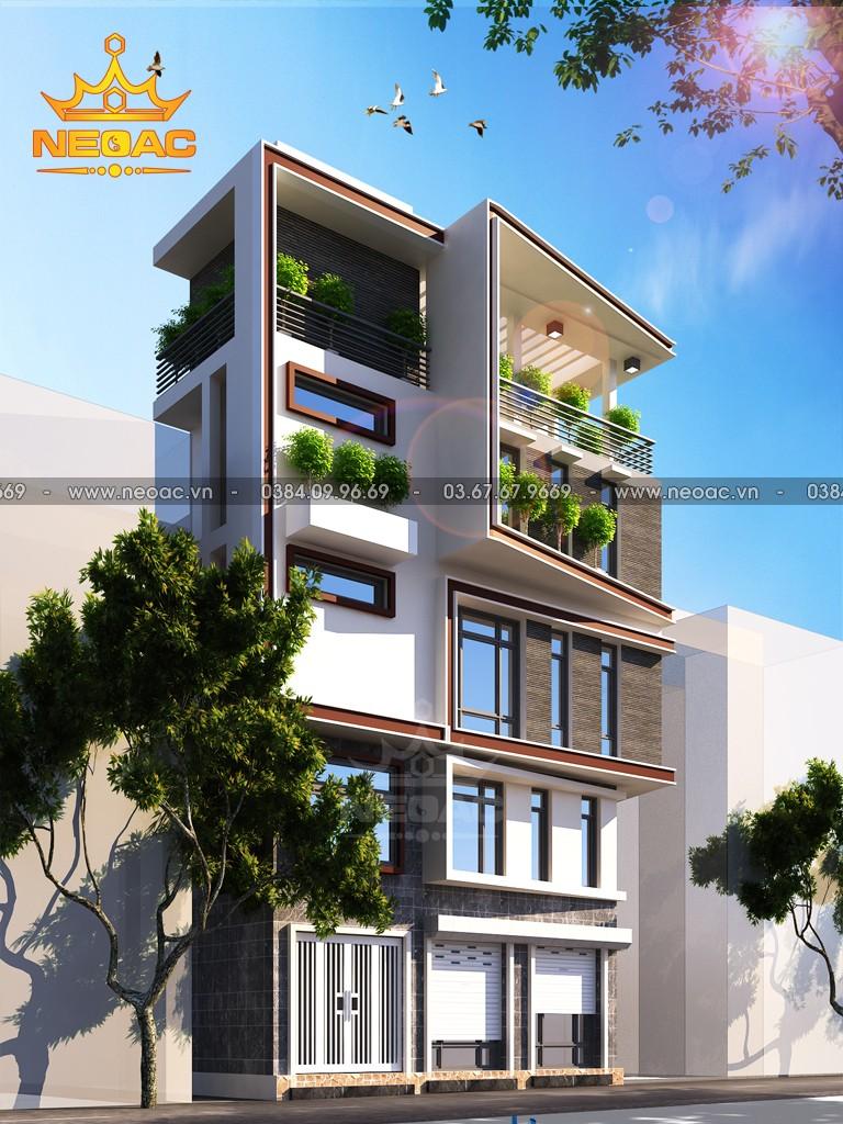 Bản vẽ nhà phố 5 tầng hiện đại 30m2
