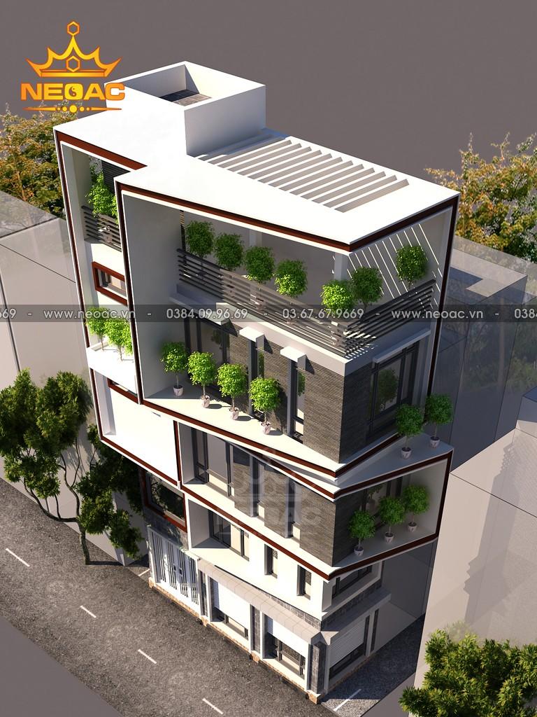 Thiết kế nhà phố 5 tầng hiện đại 30m2