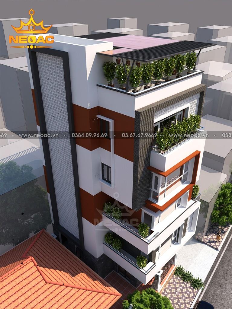 Bản vẽ nhà phố 6 tầng hiện đại 81m2