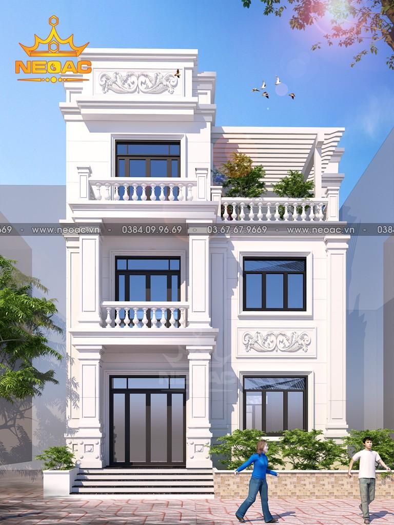 Hồ sơ mẫu thiết kế nhà phố 2 tầng tân cổ điển 115m2