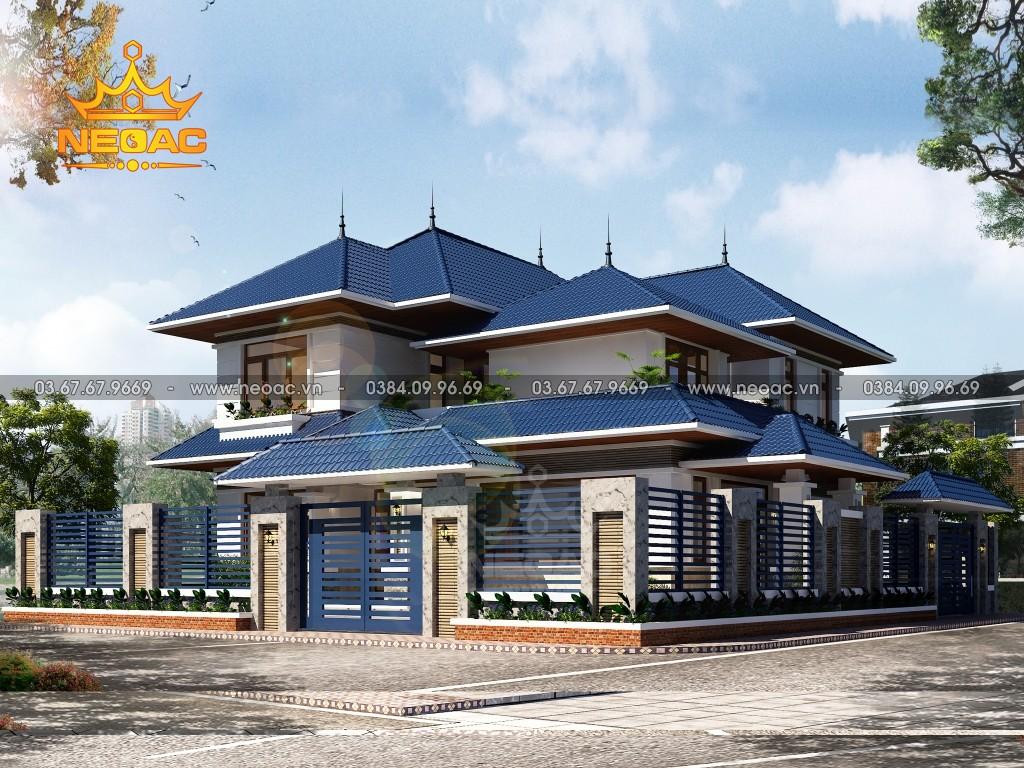 Thiết kế biệt thự 2 tầng mái Thái 170m2