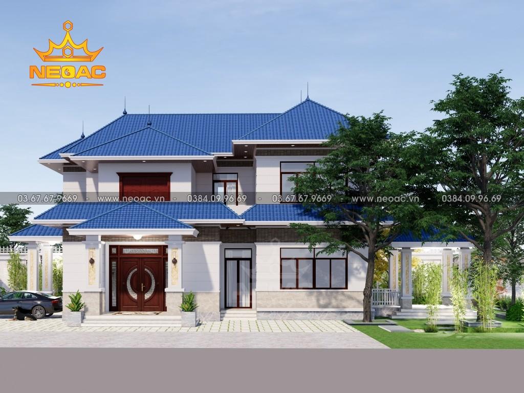 Xây dựng biệt thự 2 tầng mái Thái 220m2