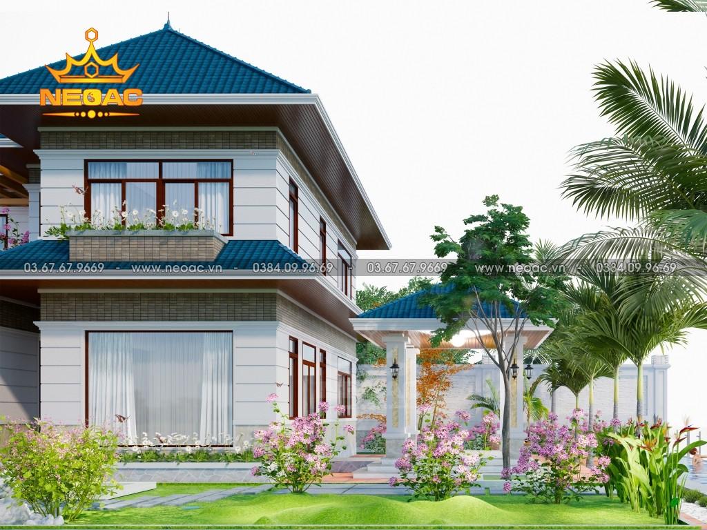 Mẫu biệt thự 2 tầng mái Thái 220m2