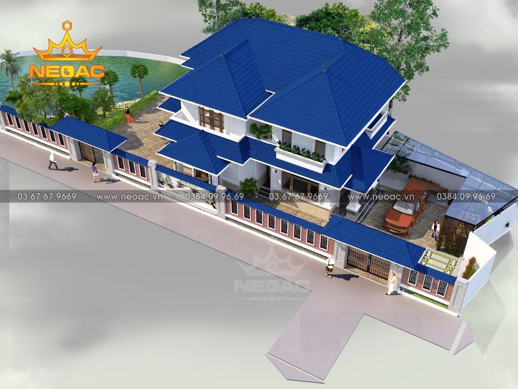 Thiết kế biệt thự 2 tầng mái Thái 172m2
