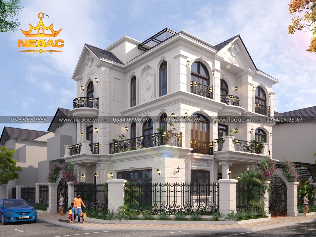 Biệt thự 3 tầng tân cổ điển 140m2 tại Long Biên
