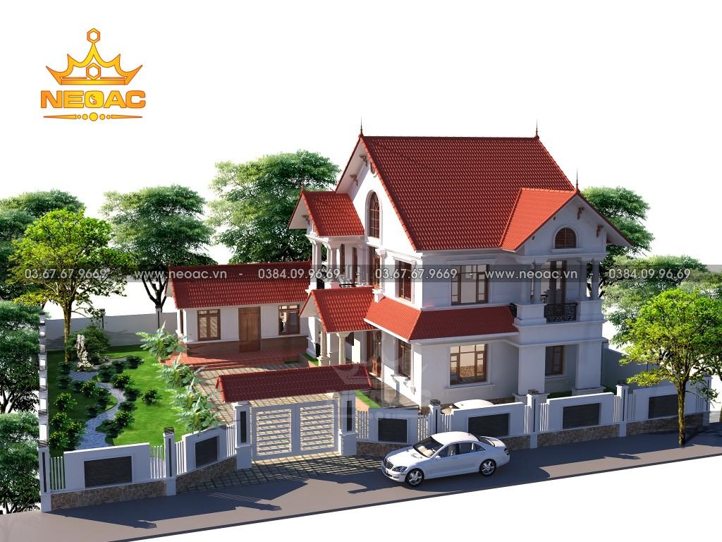 Biệt thự mái Thái 3 tầng tân cổ điển 145m2