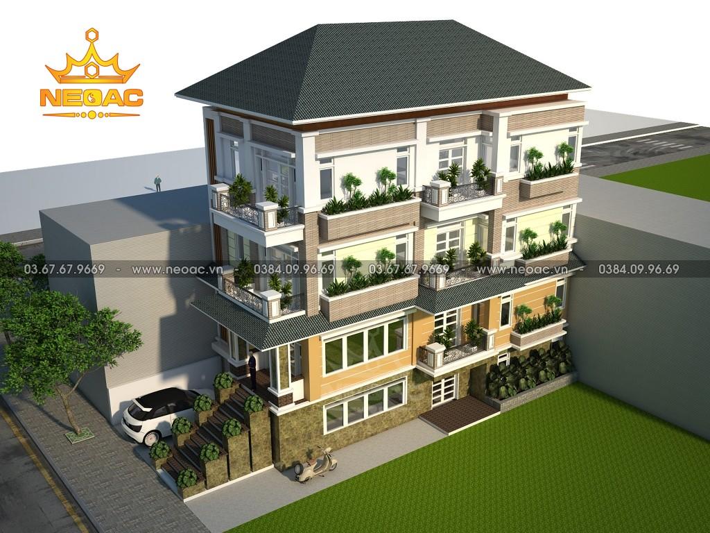 Biệt thự 4 tầng hiện đại 120m2 tại huyện Vĩnh Lộc