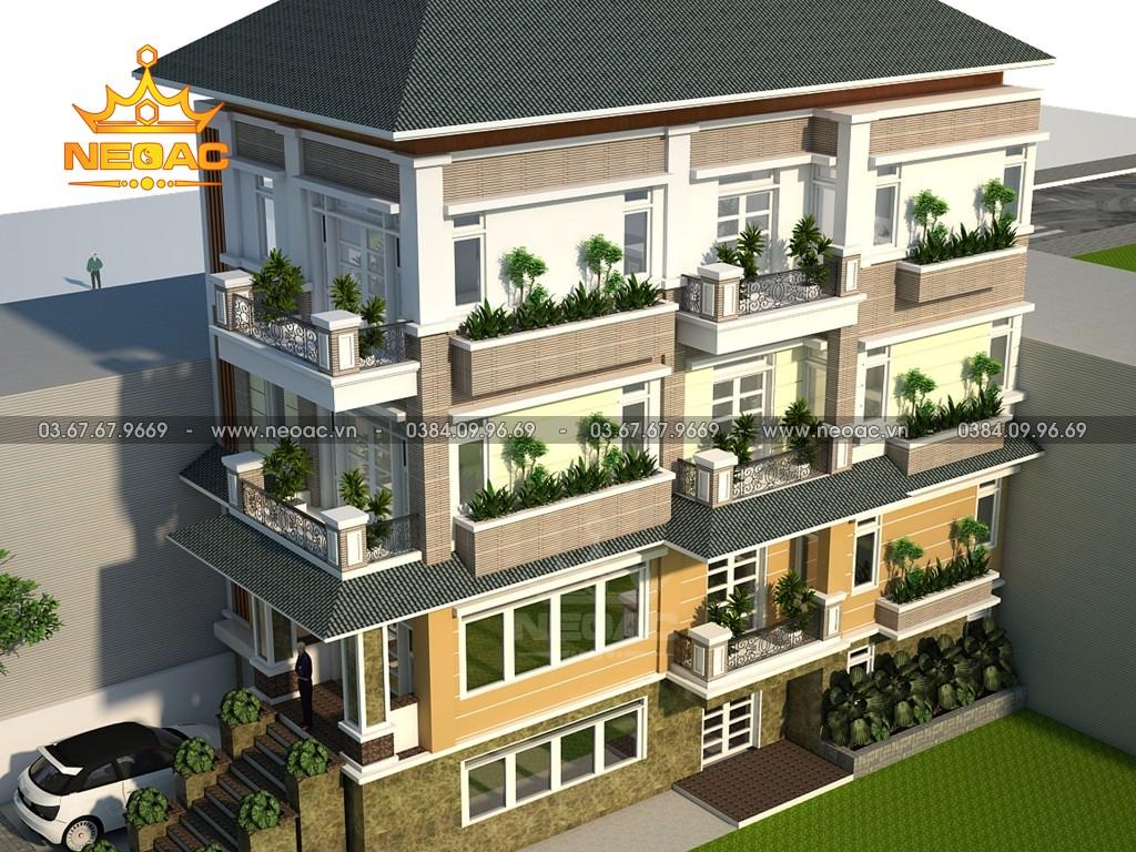 Biệt thự 4 tầng hiện đại 120m2 tại Thanh Hóa
