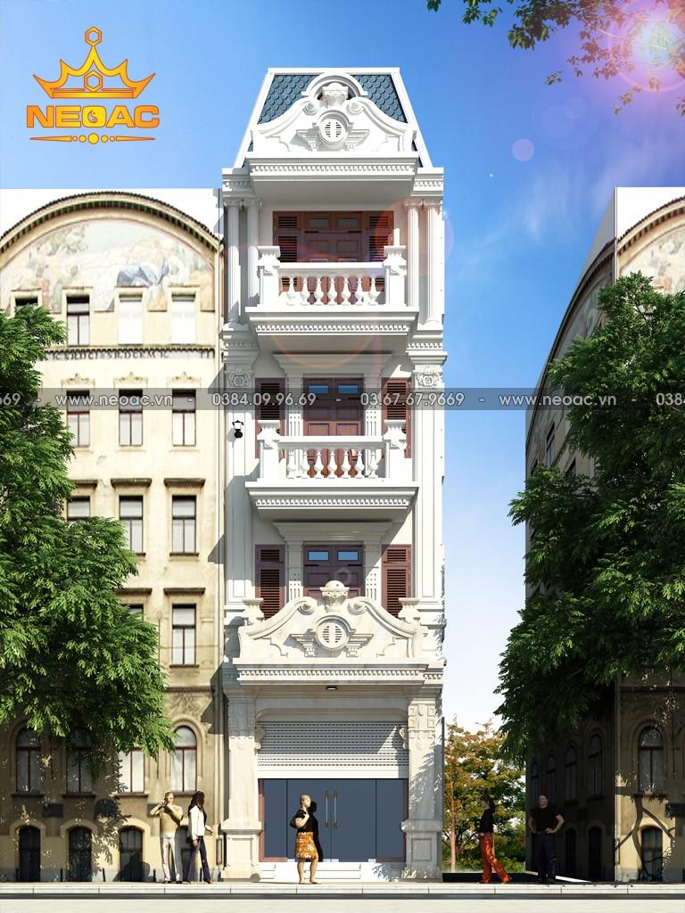 Thiết kế nhà 5mx11m 5 tầng tại Hưng Yên
