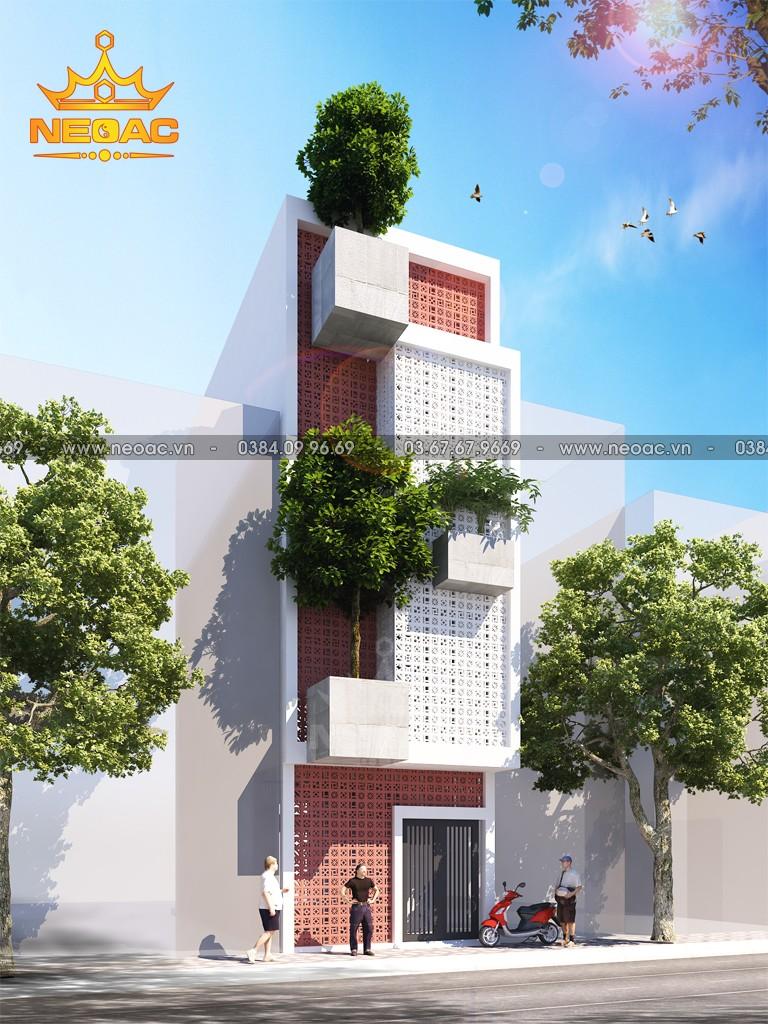 Hồ sơ thiết kế mẫu nhà phố 3 tầng hiện đại 60m2